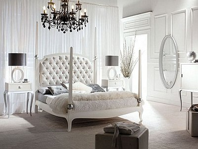 retro vintage glam hollywood style bedroom decorating. Antique