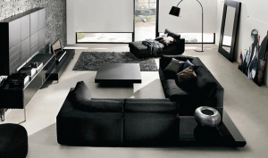 black-furniture-minimalist-design