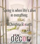 Spring Quote Christina Rossetti